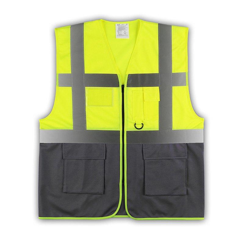 yoko viz promo waistcoats warnweste mit taschen und rei ve. Black Bedroom Furniture Sets. Home Design Ideas