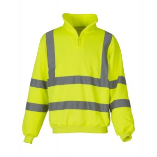 High Visibility 1/4 Zip Sweat Shirt - Pullover gelb