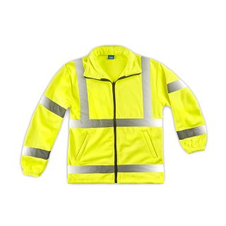 High Visibility Fleece Jacke gelb