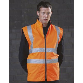 Reversible  Fleece Bodywarmer Weste gelb oder orange