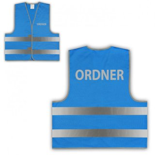 Signalweste Warnweste blau XL/XXL -  SECURITY - ORDNER
