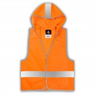 Warnweste mit Brusttasche und Reißverschluss gelb Result Core